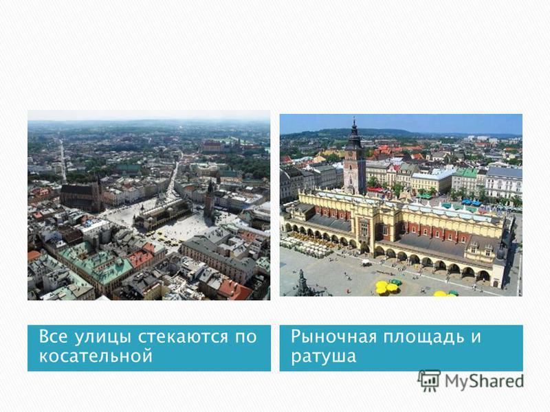 Все улицы стекаются по касательной Рыночная площадь и ратуша
