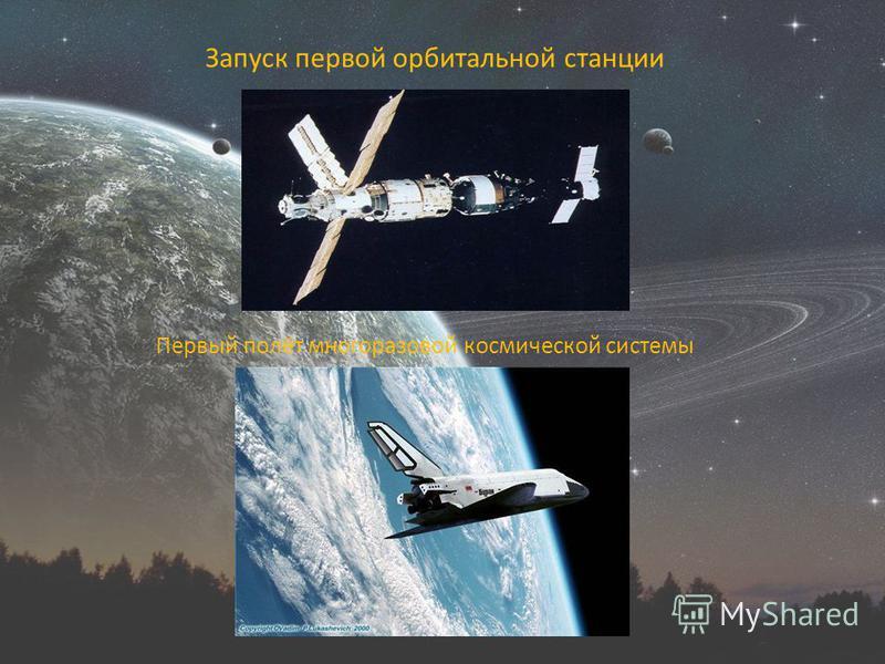 Запуск первой орбитальной станции Первый полёт многоразовой космической системы