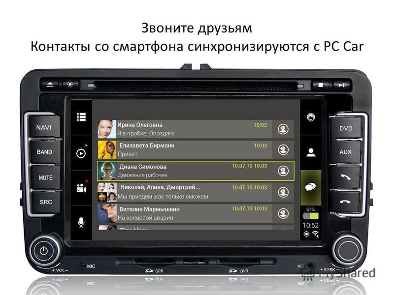 Звоните друзьям Контакты со смартфона синхронизируются с PC Car