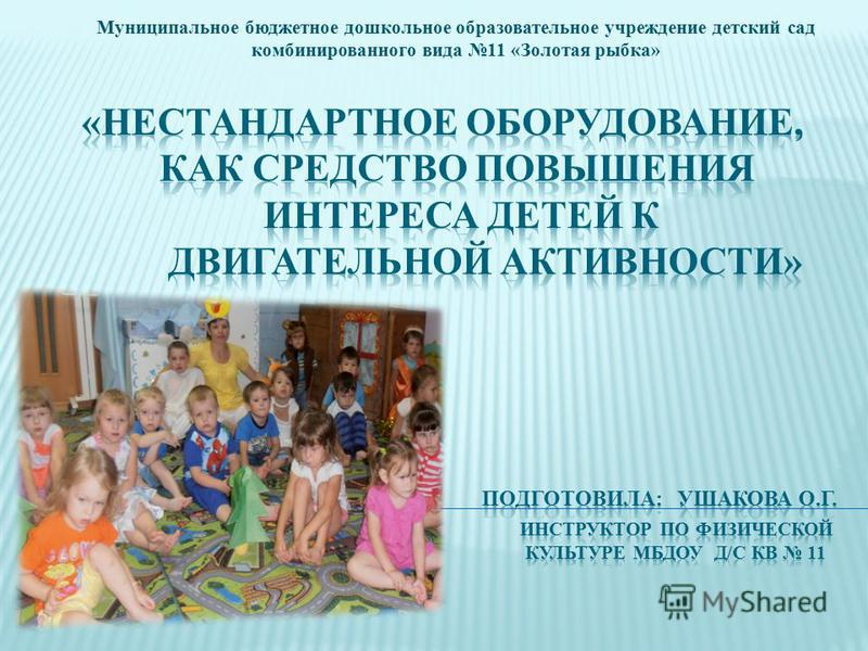 Муниципальное бюджетное дошкольное образовательное учреждение детский сад комбинированного вида 11 «Золотая рыбка»
