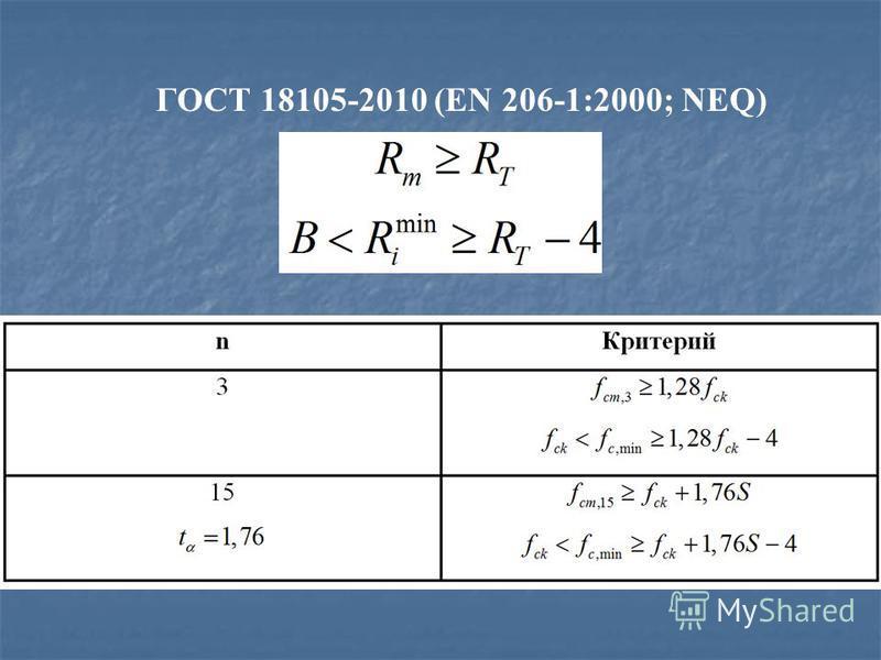 ГОСТ 18105-2010 (EN 206-1:2000; NEQ)
