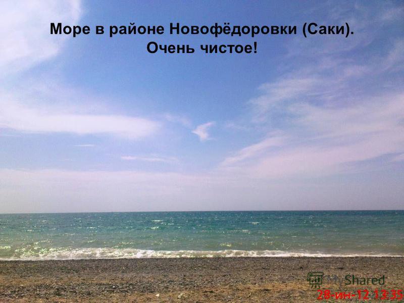 Море в районе Новофёдоровки (Саки). Очень чистое!