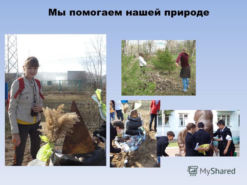 Мы помогаем нашей природе