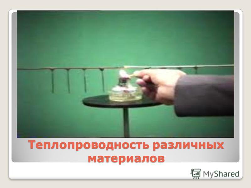 Теплопроводность различных материалов