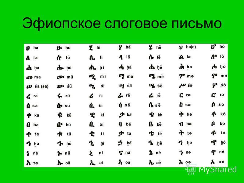 Эфиопское слоговое письмо