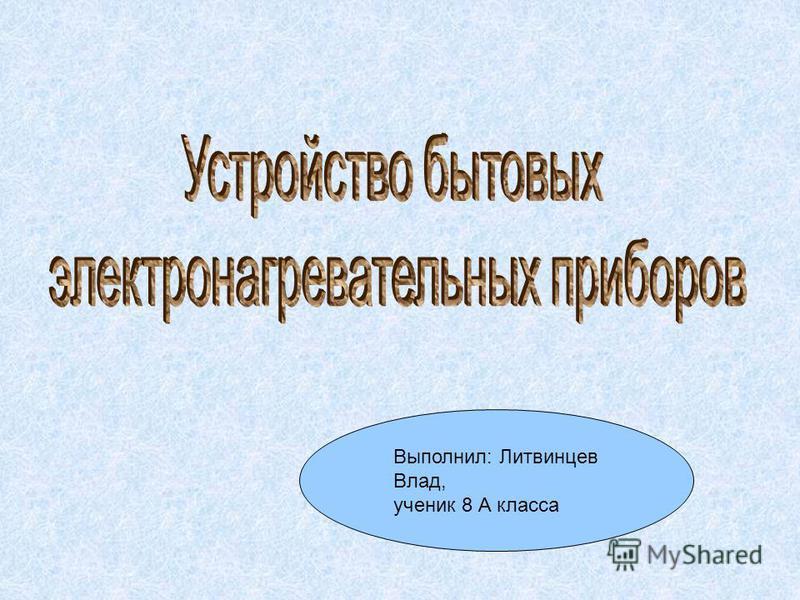 Выполнил: Литвинцев Влад, ученик 8 А класса