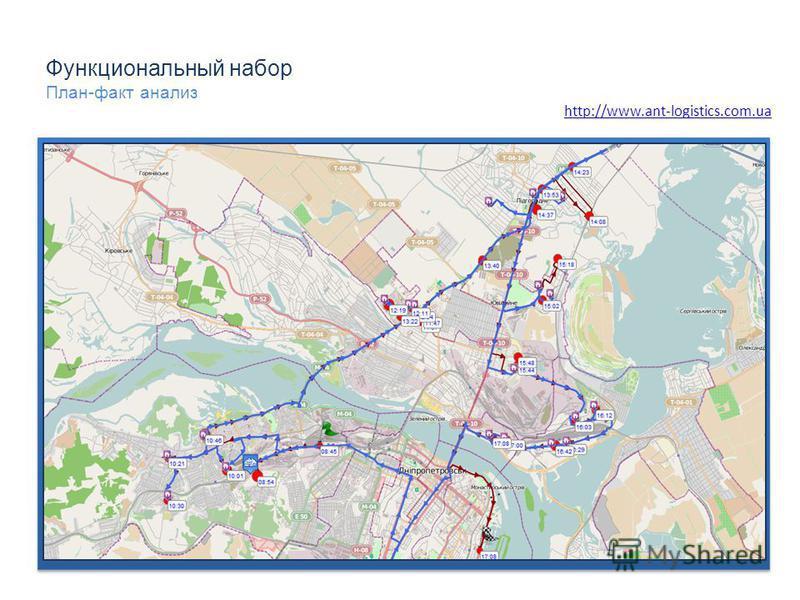 Функциональный набор План-факт анализ http://www.ant-logistics.com.ua