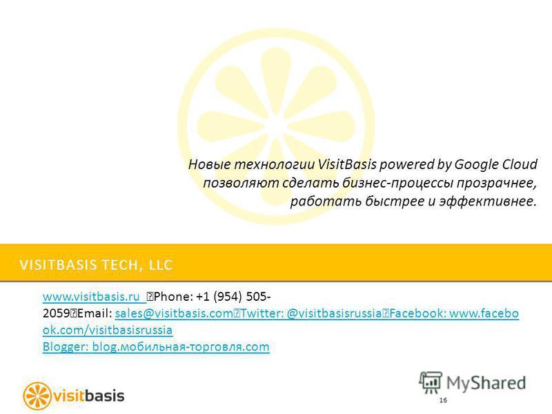 VISITBASIS TECH, LLC www.visitbasis.ru www.visitbasis.ru Phone: +1 (954) 505- 2059 Email: sales@visitbasis.com Twitter: @visitbasisrussia Facebook: www.facebo ok.com/visitbasisrussiasales@visitbasis.com Twitter: @visitbasisrussia Facebook: www.facebo