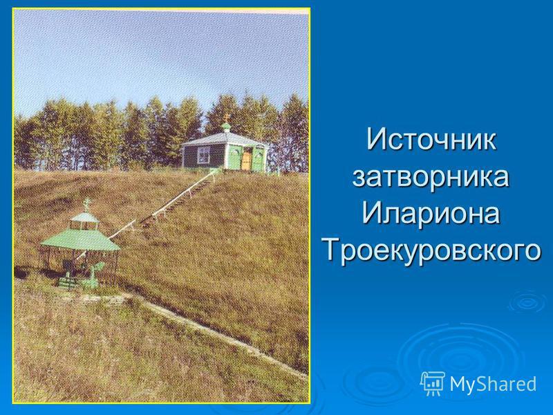 Источник затворника Илариона Троекуровского