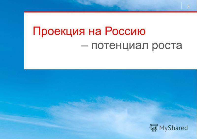 Проекция на Россию – потенциал роста 5