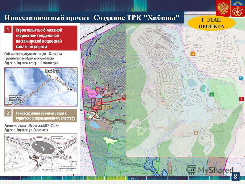 Инвестиционный проект Создание ТРК Хибины 8 I ЭТАП ПРОЕКТА