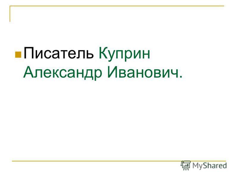 Писатель Куприн Александр Иванович.