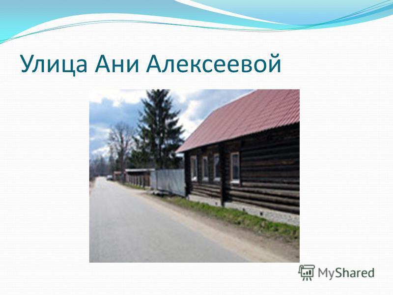 Улица Ани Алексеевой