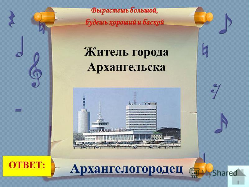 Вырастешь большой, будешь хороший и баской Архангелогородец Житель города Архангельска