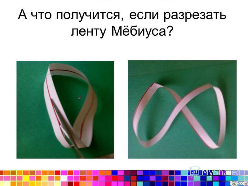 А что получится, если разрезать ленту Мёбиуса?