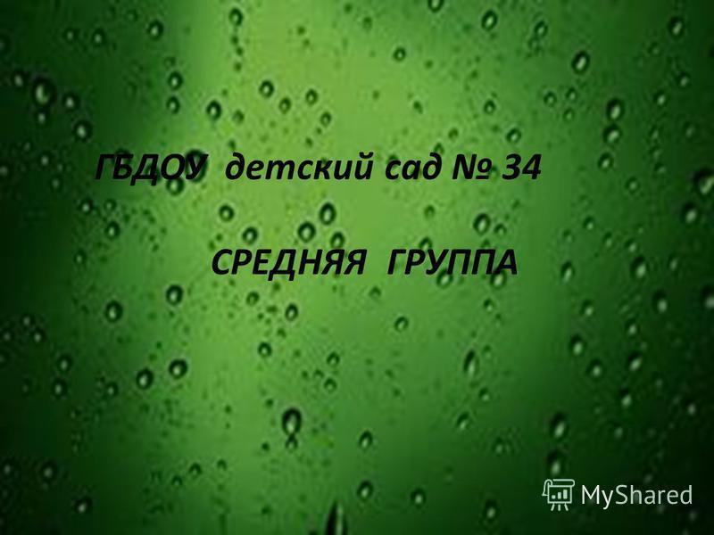 ГБДОУ детский сад 34 СРЕДНЯЯ ГРУППА