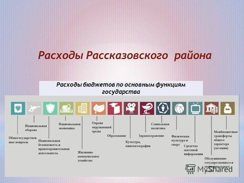 Расходы бюджетов по основным функциям государства Расходы Рассказовского района