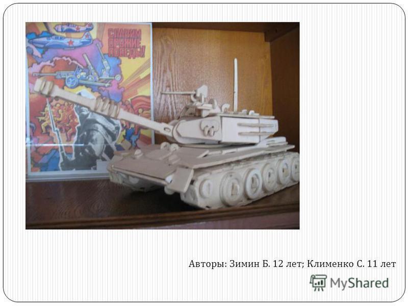 Авторы : Зимин Б. 12 лет ; Клименко С. 11 лет