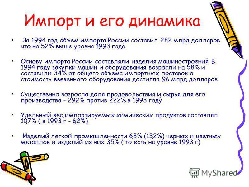 Структура российского экспорта в 1994 г.