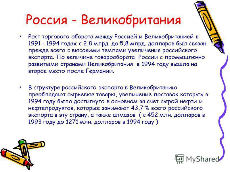 Товарооборот России с Германией в 1992-1995 г.