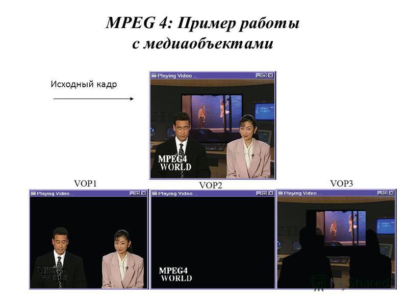 MPEG 4: Пример работы с медиаобъектами Исходный кадр