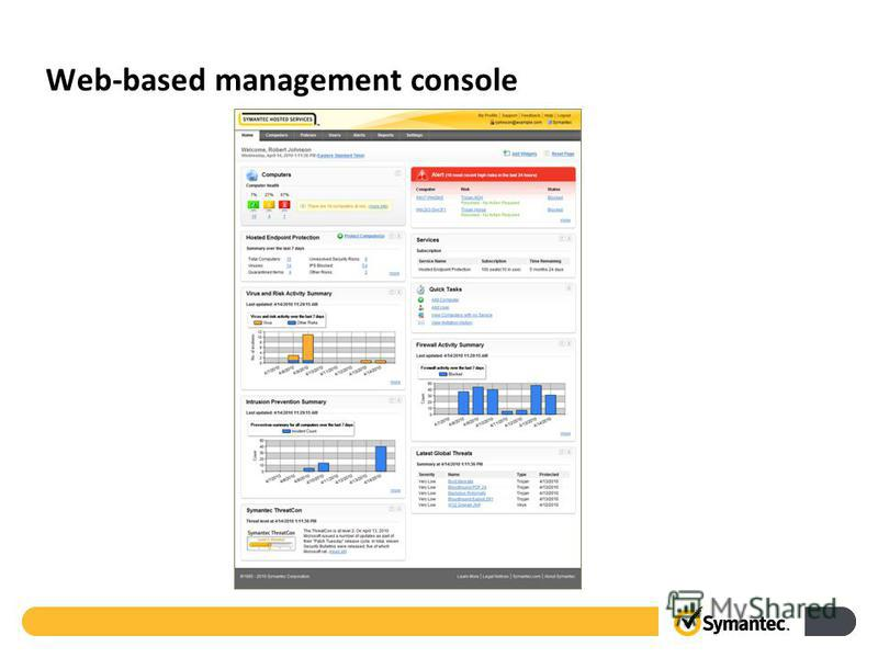 Web-based management console