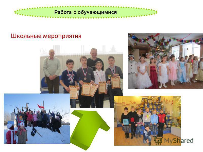 Работа с обучающимися Школьные мероприятия