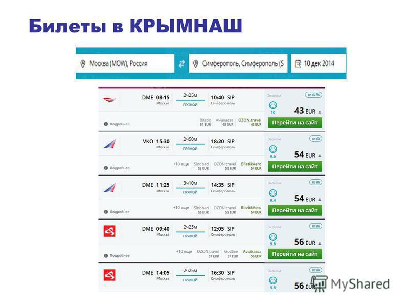 Билеты в КРЫМНАШ