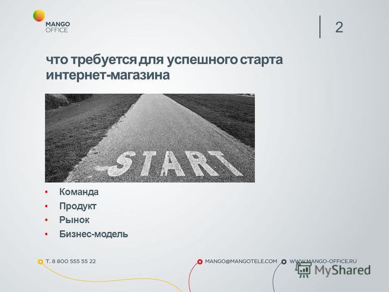 Команда Продукт Рынок Бизнес-модель 2 что требуется для успешного старта интернет-магазина