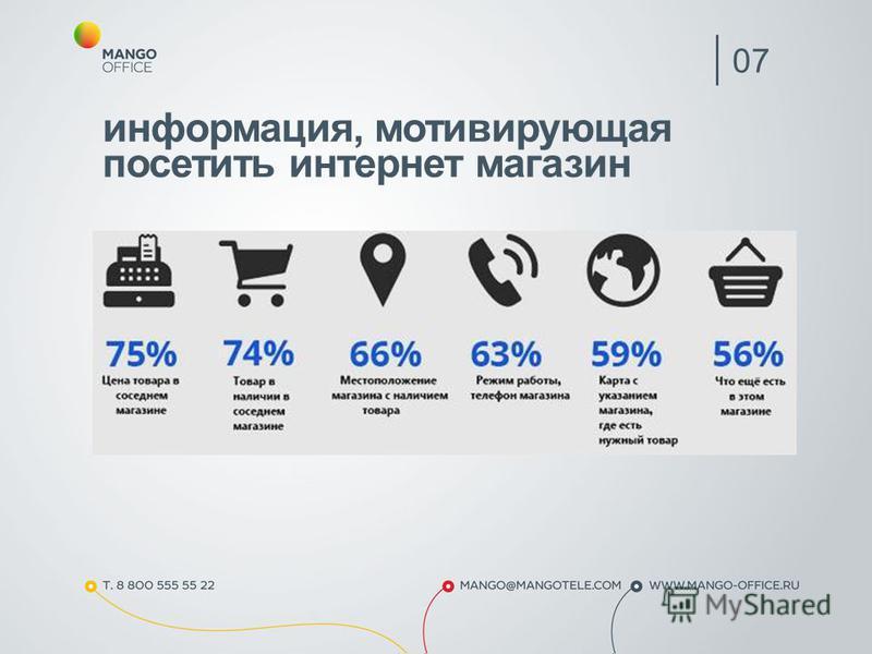 информация, мотивирующая посетить интернет магазин 07