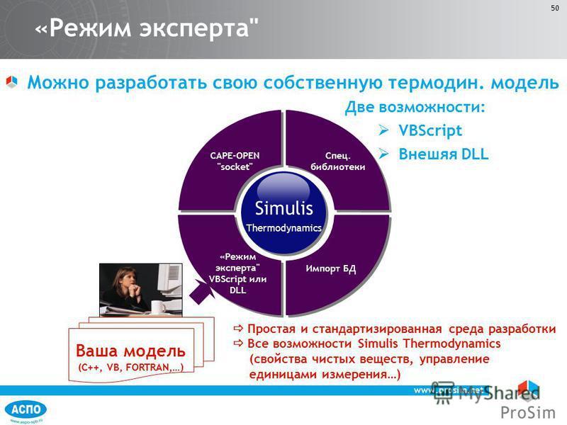 www.prosim.net 50 «Режим эксперта