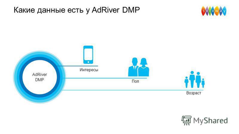Какие данные есть у AdRiver DMP AdRiver DMP Интересы Возраст Пол