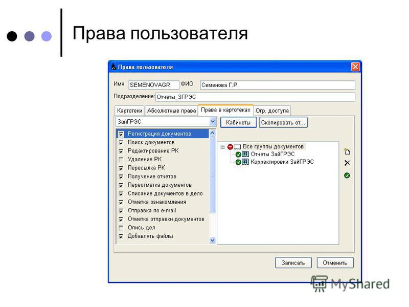 Права пользователя