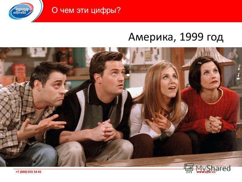 +7 (800) 555 54 45 www.spsr.ru О чем эти цифры? Америка, 1999 год