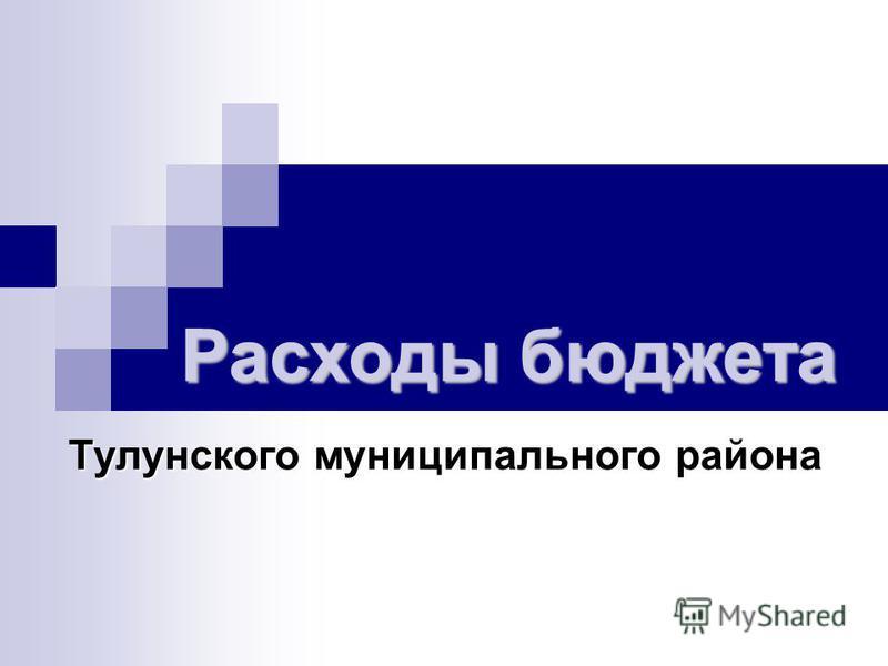 Расходы бюджета Тулунского муниципального района