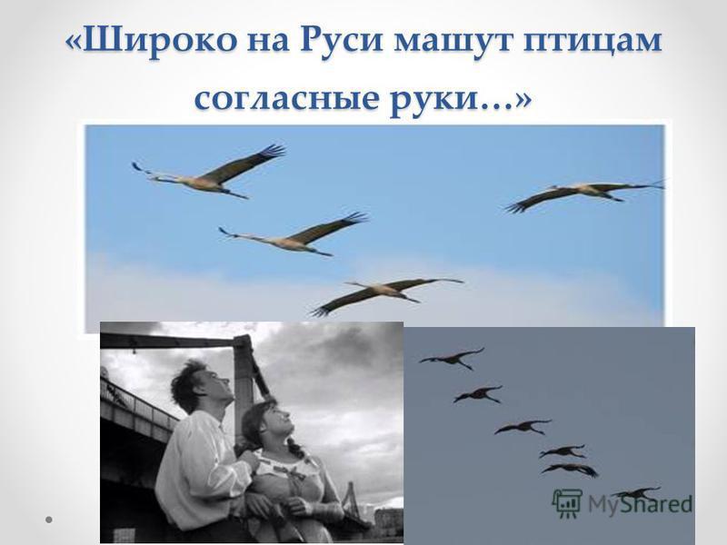 «И высокий полет высокий полёт этих древних прославленных птиц…»