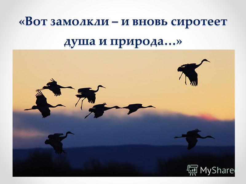 «Вот летят, вот летят…»