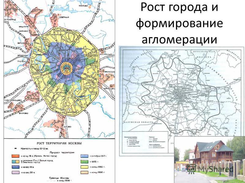 Рост города и формирование агломерации