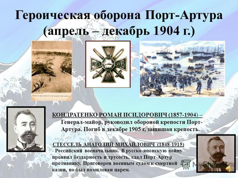 Ход военных действий 26 января 1904 г Начало войны. 27 января 1904 г Атака порт-артурской эскадры японскими миноносцами; гибель