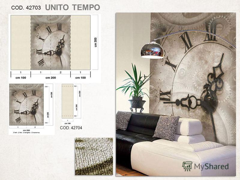 COD. 42703 COD. 42704 UNITO TEMPO