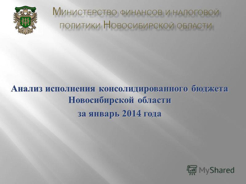 Анализ исполнения консолидированного бюджета Новосибирской области за январь 2014 года