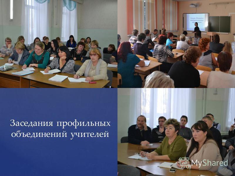 { Заседания профильных объединений учителей