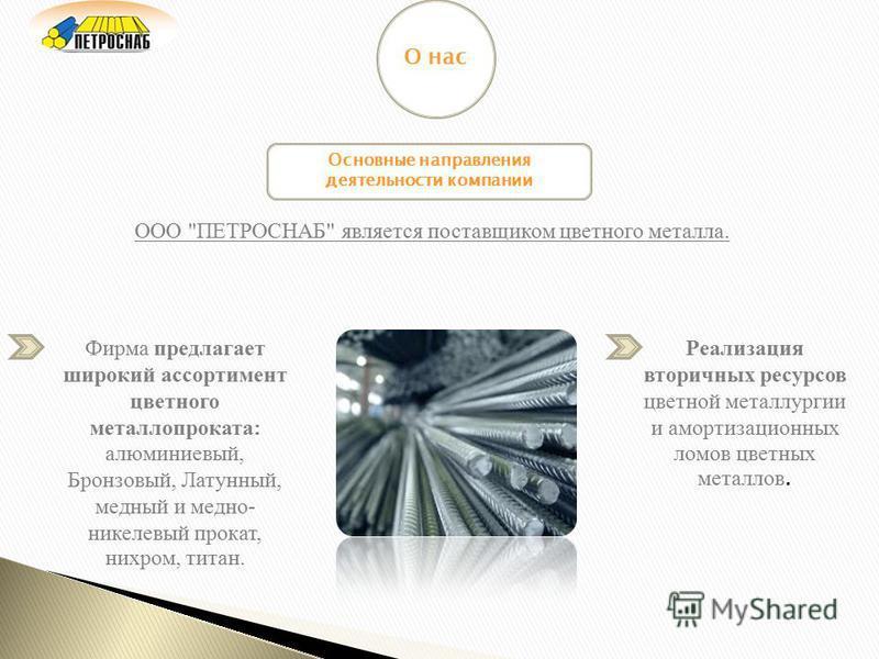 Основные направления деятельности компании ООО