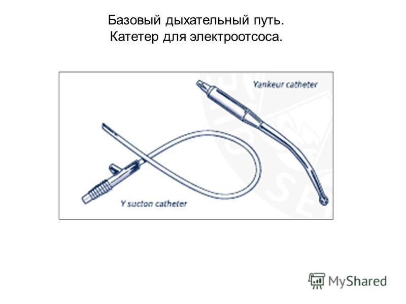 Базовый дыхательный путь. Катетер для электроотсоса.