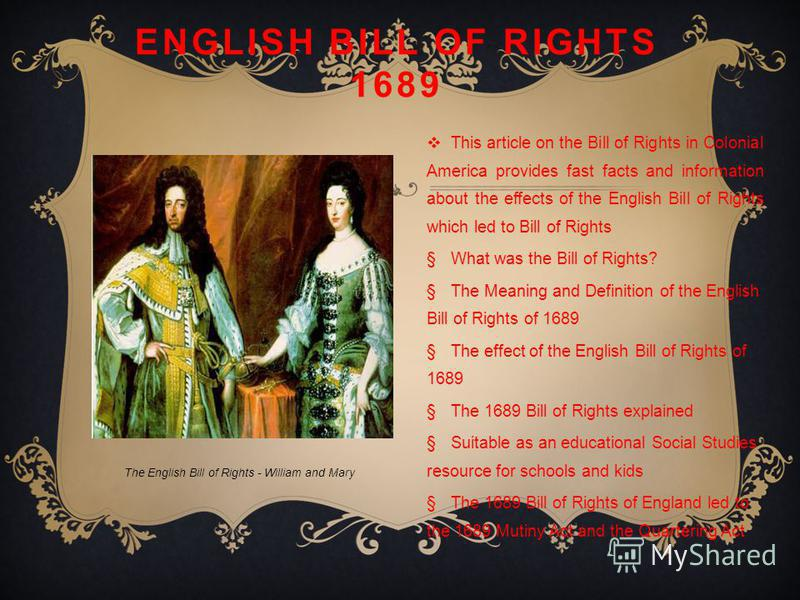 Bill of Rights in Simple Language