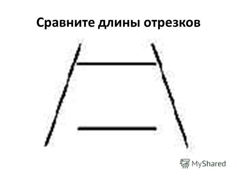Сравните длины отрезков
