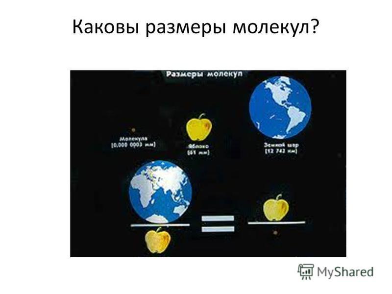 Каковы размеры молекул?
