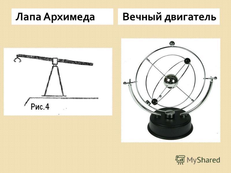 Лапа Архимеда Вечный двигатель