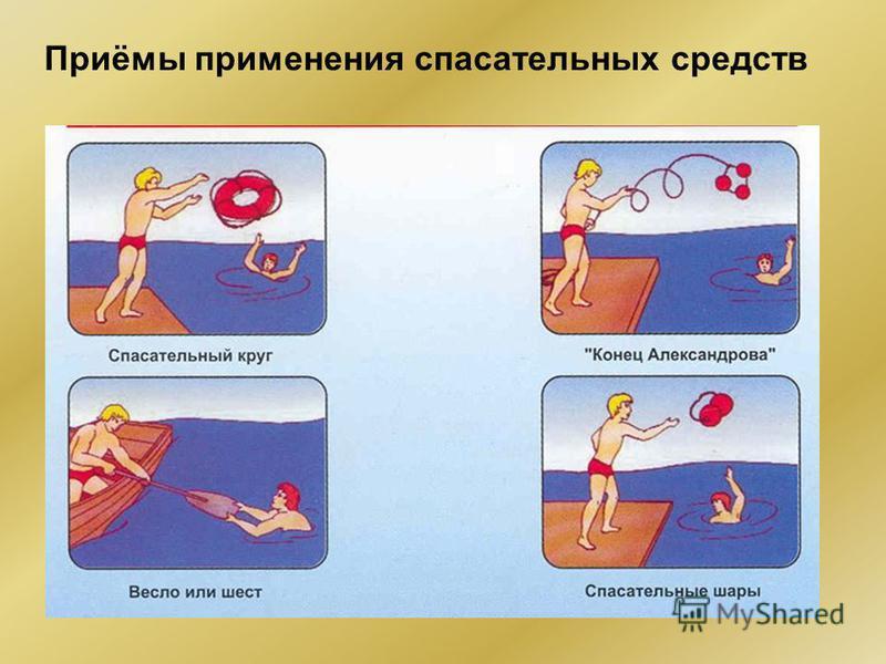 Приёмы применения спасательных средств
