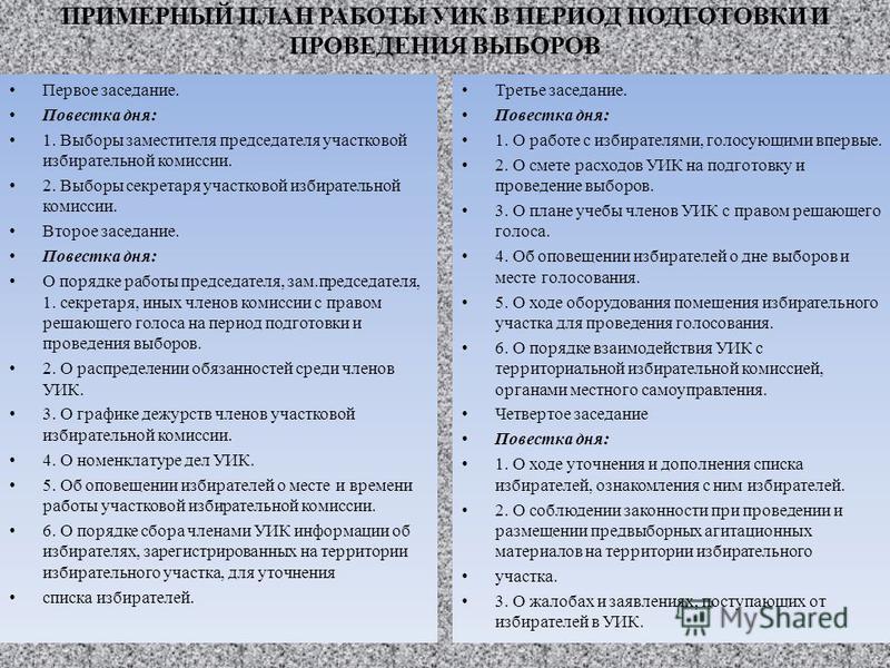 наказания без может ли государственный служащий быть председателем избирательной комиссии работы Как